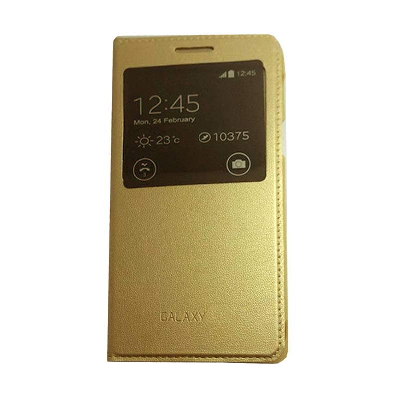 Jual Galaxy Emas Flip Cover Casing For Samsung Galaxy E5