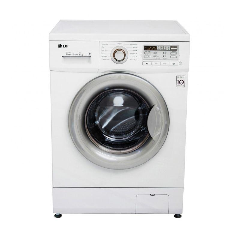 Jual LG Front Loading Washer FM1071D6 Putih Mesin Cuci 7