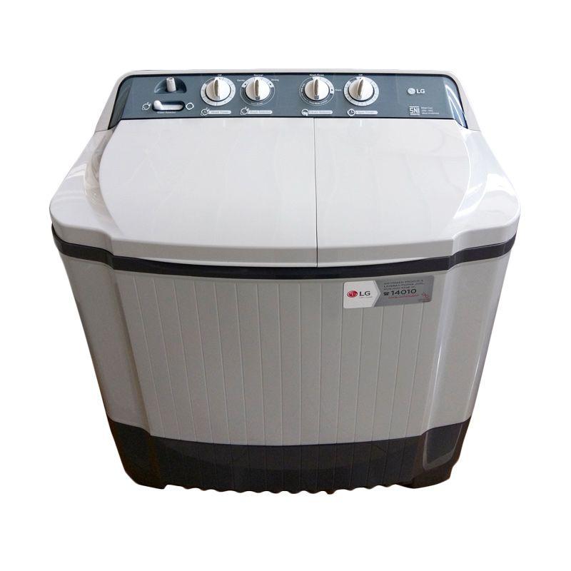 LG Twin Tub Washer P800N Putih Mesin Cuci [8 kg] [Free Ongkir Jadetabek, Surabaya, Malang]