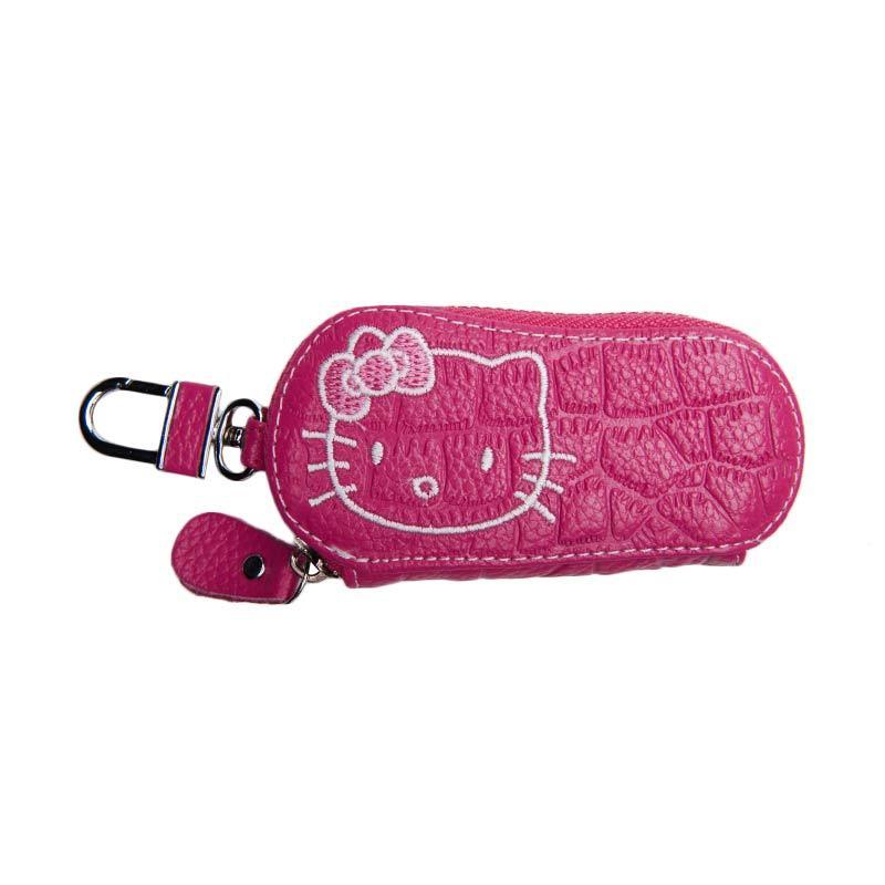 Galva Hello Kitty Pink Tua Dompet Gantungan Kunci