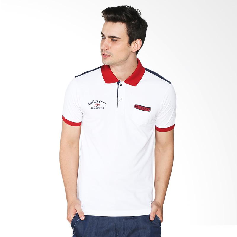 Gallop GLPC California B22059LC Polo Shirt Pria - White