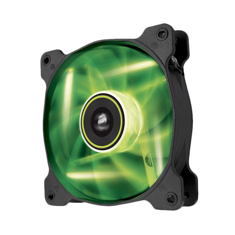 Corsair Air Series High Static Pressure Twin Pack SP120 LED Green CPU Cooler [120 mm]