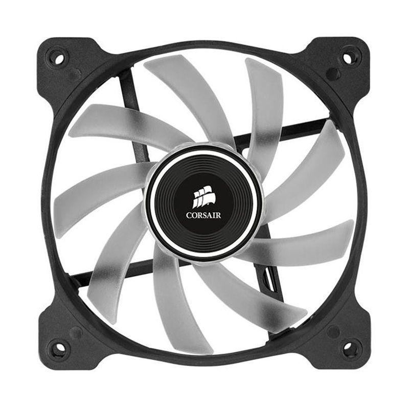 Corsair Air Series Quiet Edition High Airflow AF120 LED White CPU Cooler [120 mm]