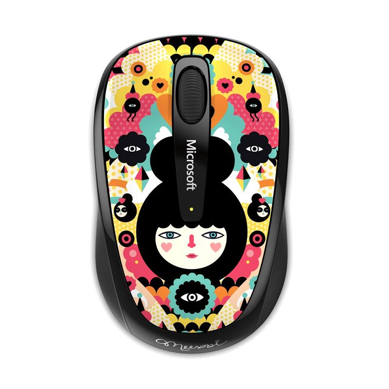 Microsoft 3500 Multi Color Artist Muxxi Wireless Mobile Mouse