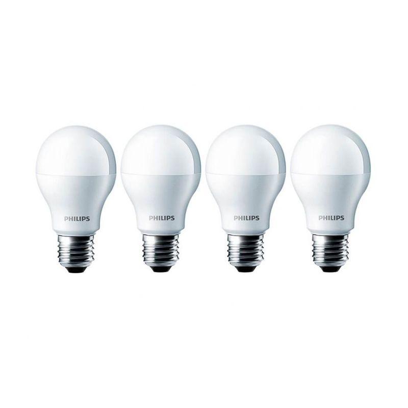 Philips LED Putih Lampu Bohlam [10.5 Watt/4 Pcs]