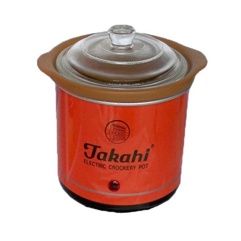 Takahi Slow Cooker Orange Rice Cooker [0.7 L]