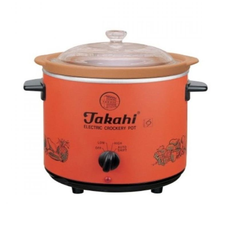 Takahi Slow Cooker Orange Rice Cooker [1.2 L]