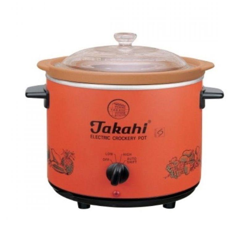 Takahi Slow Cooker Orange Rice Cooker [1.2 L]