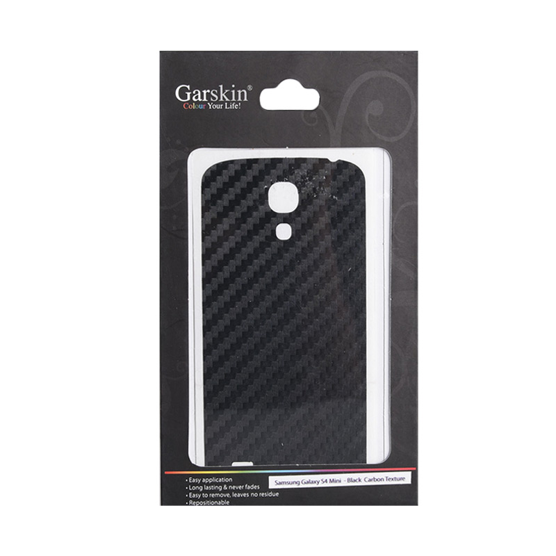 Garskin Black Carbon Texture Skin Protector for Samsung Galaxy S4 mini