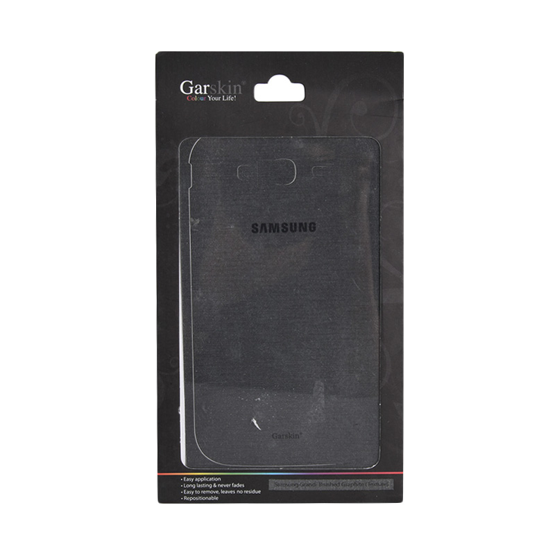 Garskin Brushed Graphite Skin Protector for Samsung Grand [Texture]