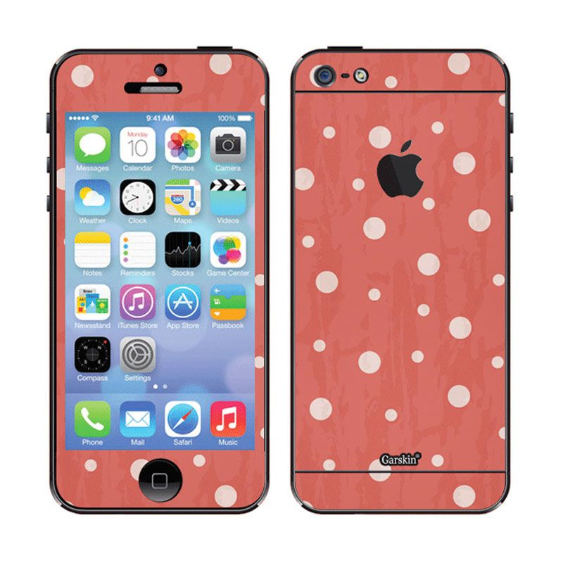 Garskin Bubbles Red Skin Protector for iPhone 5