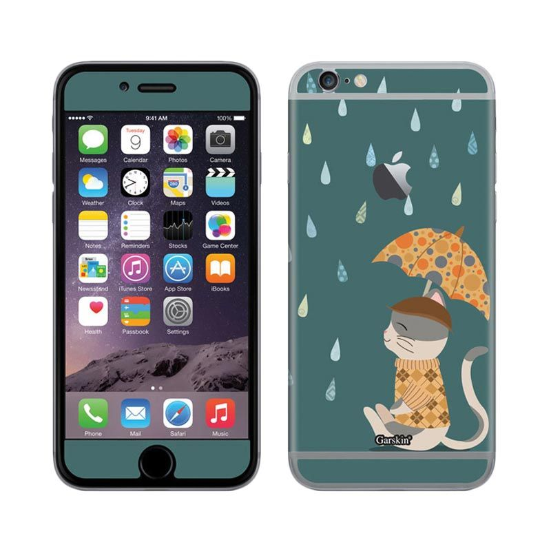 Garskin Cat Loves Rain skin Protector for iPhone 6