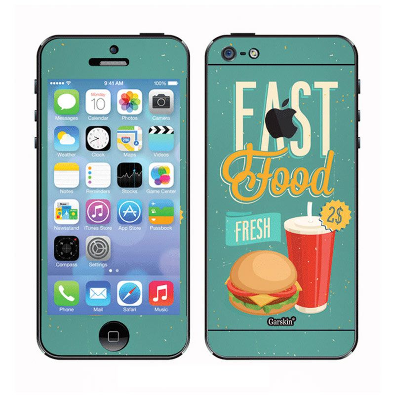Garskin Fast Food Skin Protector for iPhone 5