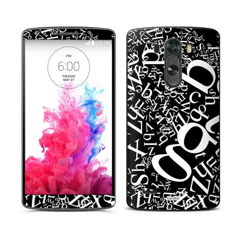 Garskin Sticker Skin LG G3 - Flying Text Black