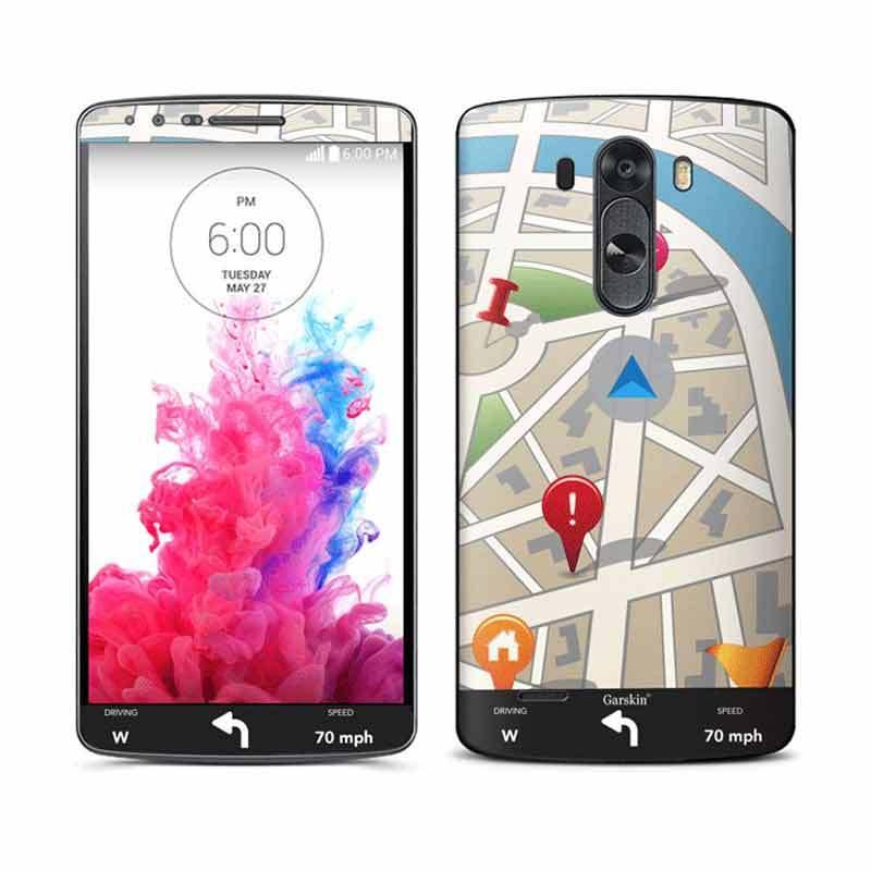 Garskin LG G3 Skin Protector - Road Map
