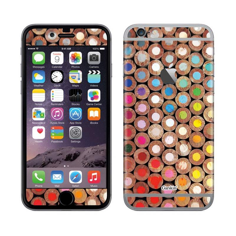 Garskin Pencil Pattern Round Skin Protector for iPhone 6