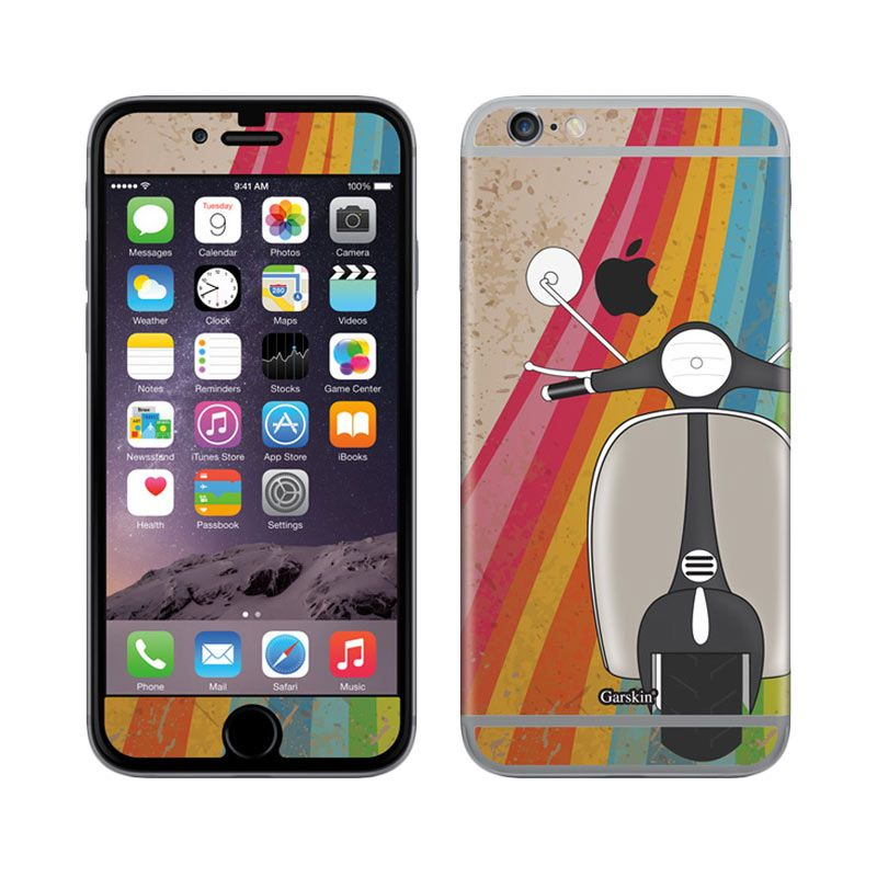 Garskin Scooter Rainbow Skin Protector for iPhone 6