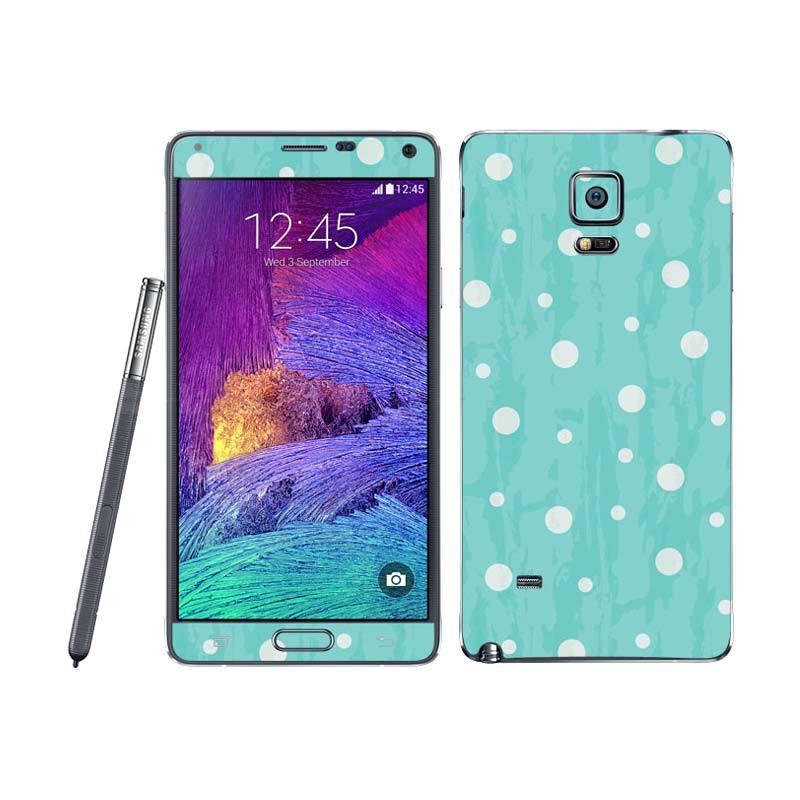 Garskin Samsung Note 4 Bubbles Blue Skin Protector