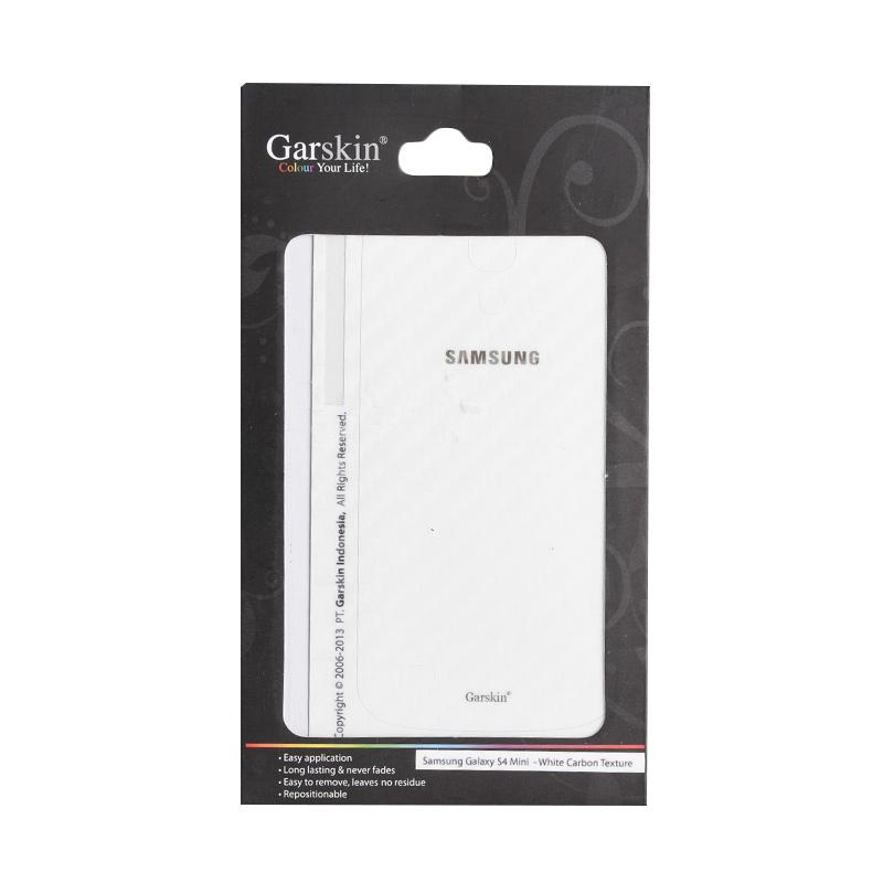 Garskin White Carbon Texture Skin Protector for Samsung Galaxy S4 mini