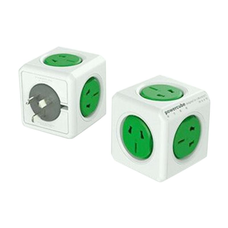 Allocacoc Power Cube Wireless Green Electric Socket [2500 W/5 Electric Plug]