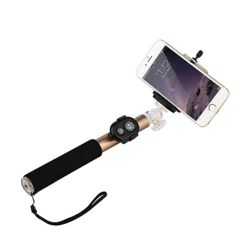 Baseus Stable Black Selfie Monopod with Detachable Bluetooth Shutter for Smartphone