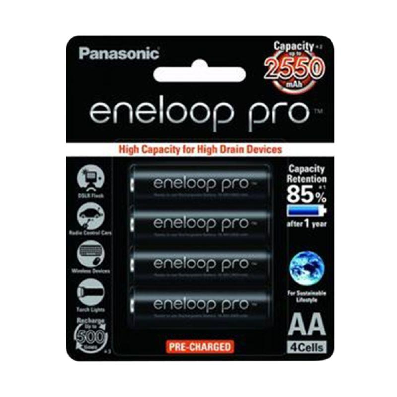 Eneloop Pro BK-3HCCE 4BT AA Black Battery