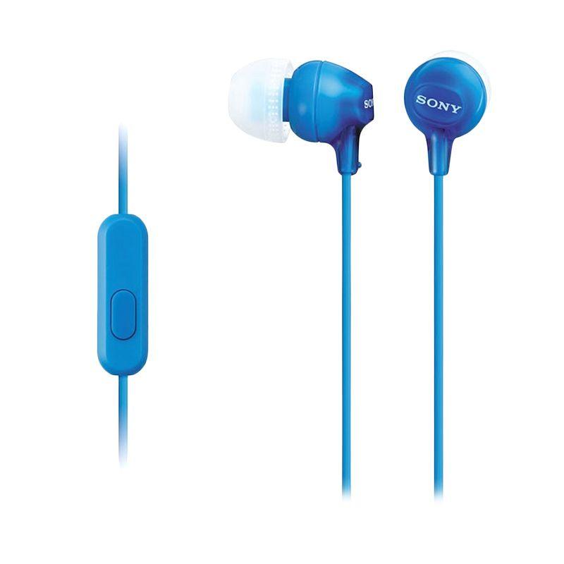 Sony MDR-EX15AP Original Biru Earphone