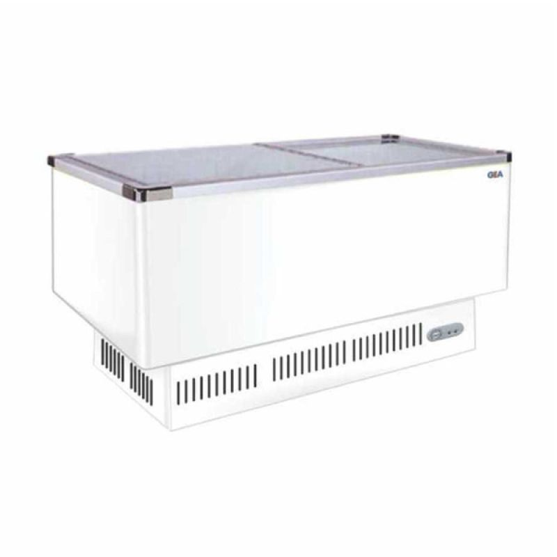 GEA/GETRA/RSA Sliding Curve Glass SD-636BP Putih Freezer
