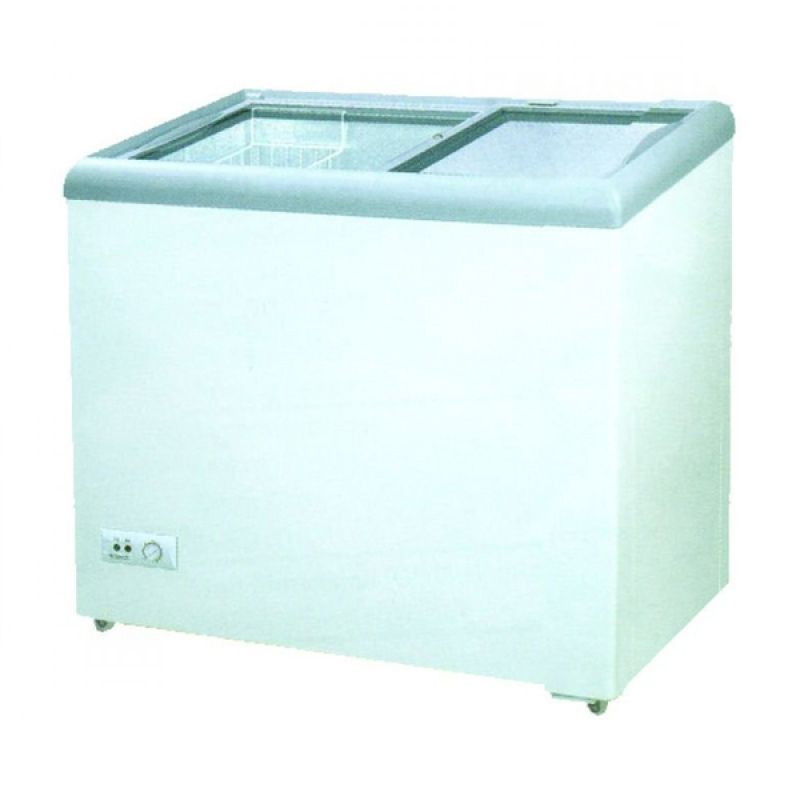 GEA Sliding Flat Glass SD-186 Putih Freezer