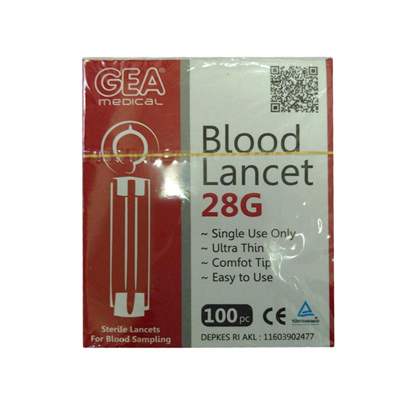 GEA Blood Lancet 28G Jarum [100 pcs]