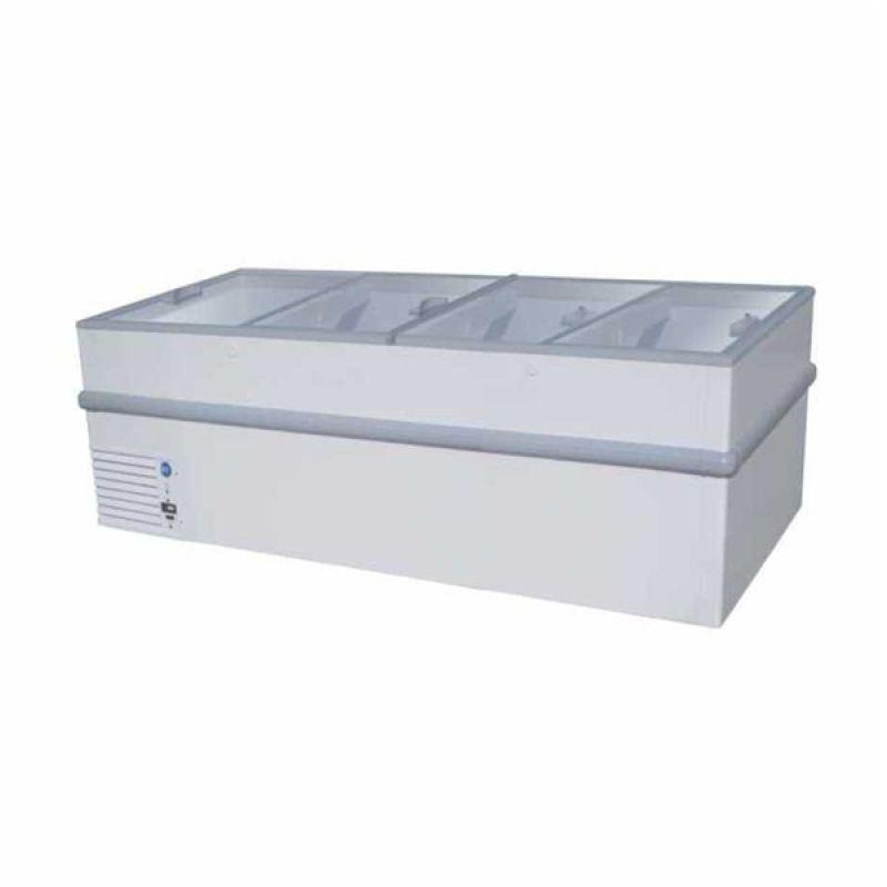 GEA/GETRA/RSA Sliding Curve Glass STELLA-250 Putih Freezer