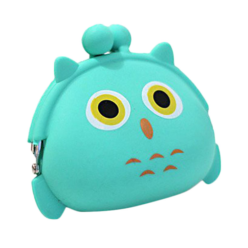 Gecko Cute Animal Character Silicone Pouch - Owl