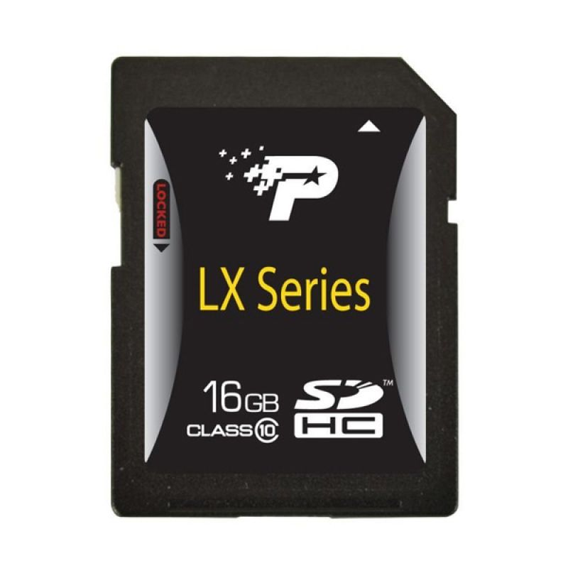 Patriot SDHC LX Series 16 GB Hitam Memory Card