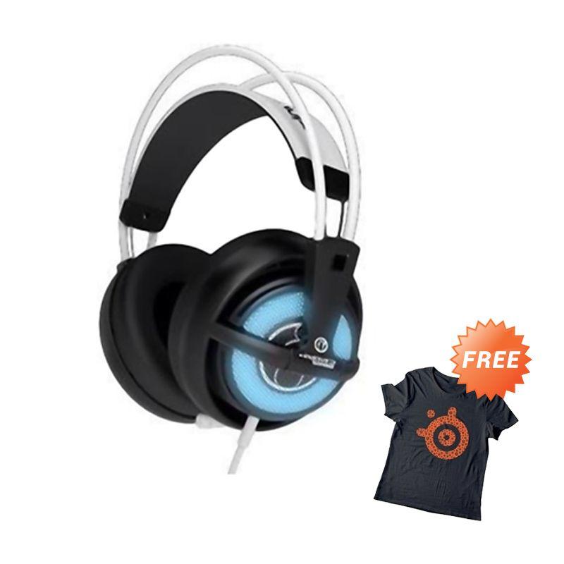 SteelSeries Siberia Full USB Invictus Game V2 White Gaming Audio + T-Shirt