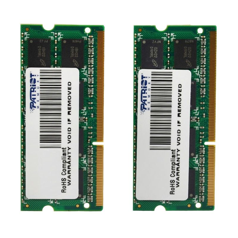 Patriot Memory DDR3 8 GB SODIMM Kit PSA38G1600SK Komponen Komputer untuk MAC [2 x 4 GB]