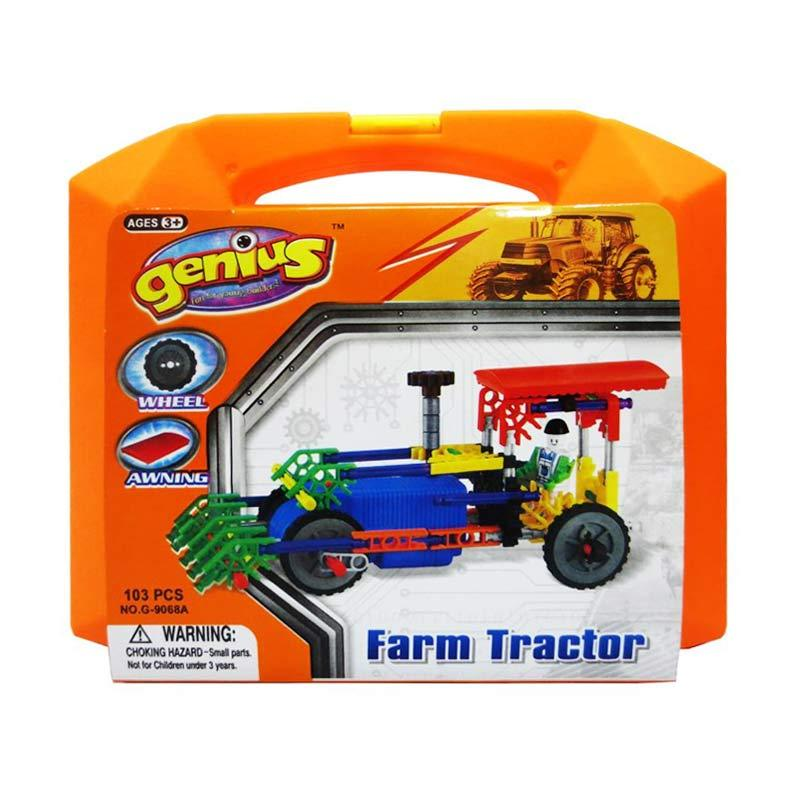 Genius Block G9068A Farm Tractor Mainan Blok & Puzzle