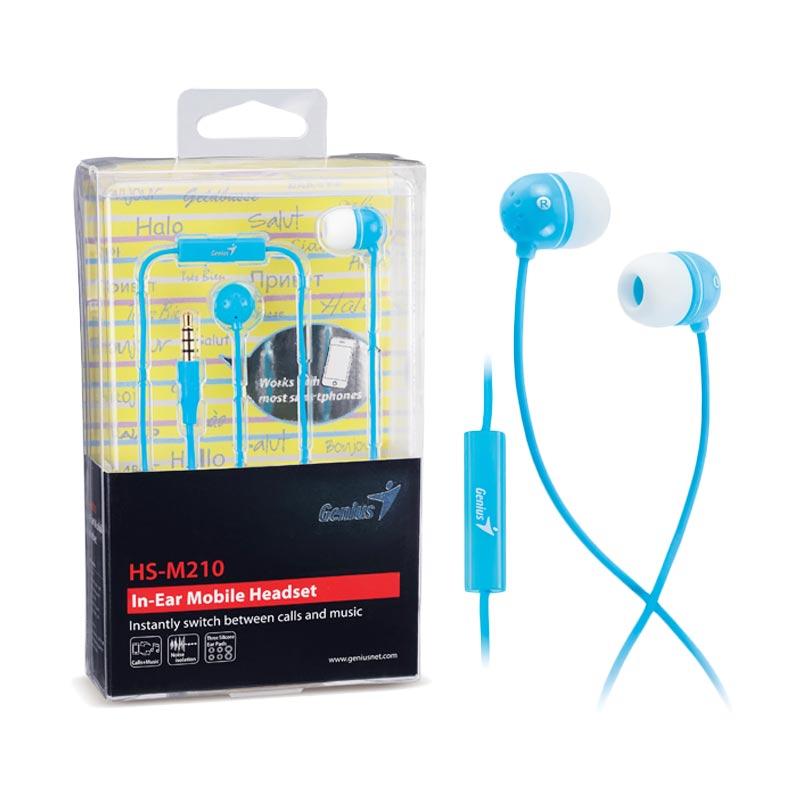 harga Genius HS-M210 Headset - Blue Blibli.com