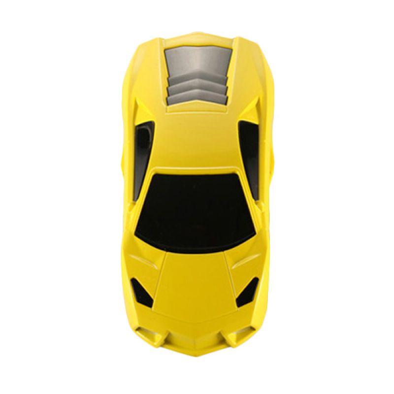 Flux Powerbank Car Shape Lamborghini Model 5600 mAh Kuning