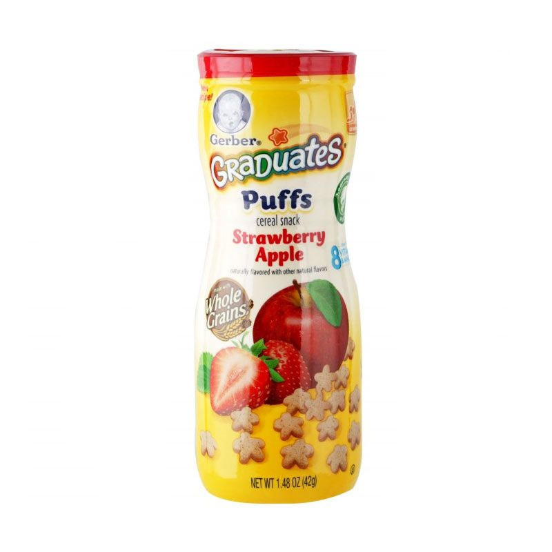 Gerber Graduates Puffs Strawberry Apple [42gr]