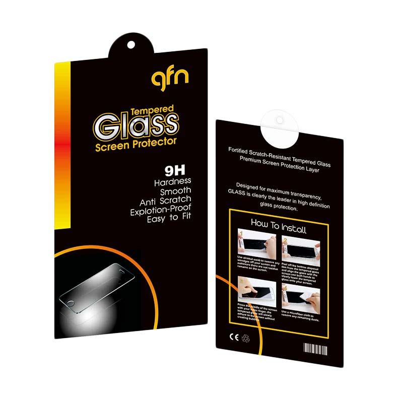 GFN Tempered Glass Screen Protector for Sony Xperia Z3 Plus E6553/E6533 [Protective Guard/Hardness/Rounded/Depan Belakang]