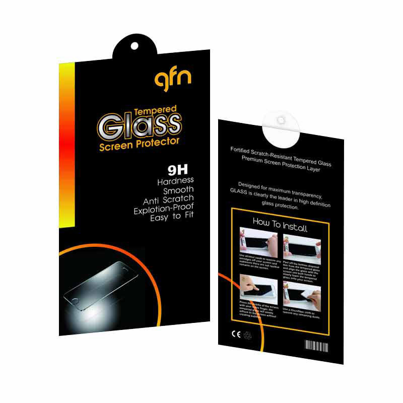 GFN Tempered Glass Screen Protector for Xiaomi Redmi Note 2 [9H/2.5D Round/Anti Gores]