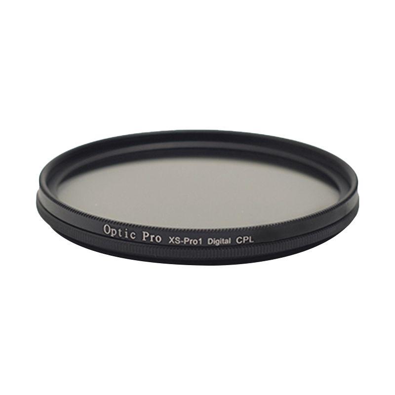 Optic Pro Slim CPL 49mm Hitam Filter Lensa