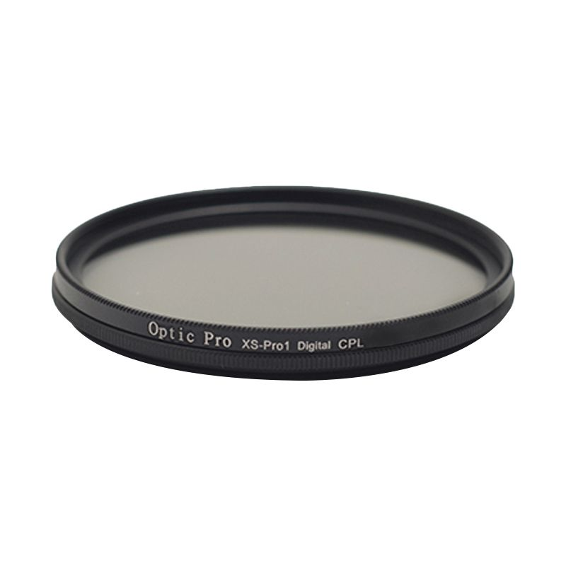 Optic Pro Slim CPL 62mm Hitam Filter Lensa