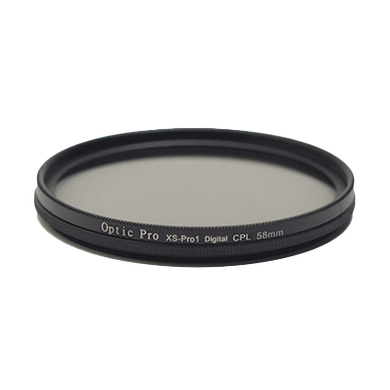 Optic Pro SLIM CPL 67mm Hitam filter Lensa