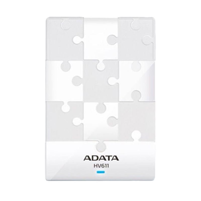 ADATA HV611 White Hard Disk Eksternal [1 TB/2.5