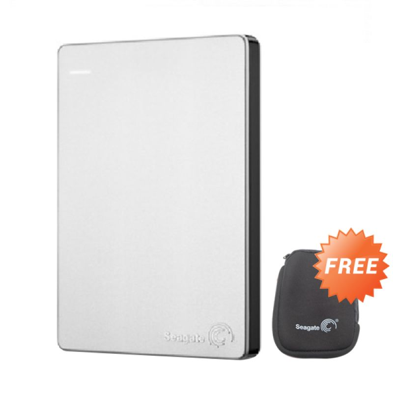 Seagate BackUp Plus Slim 2.5 Hard Disk Eksternal [2 TB] + Black Pouch