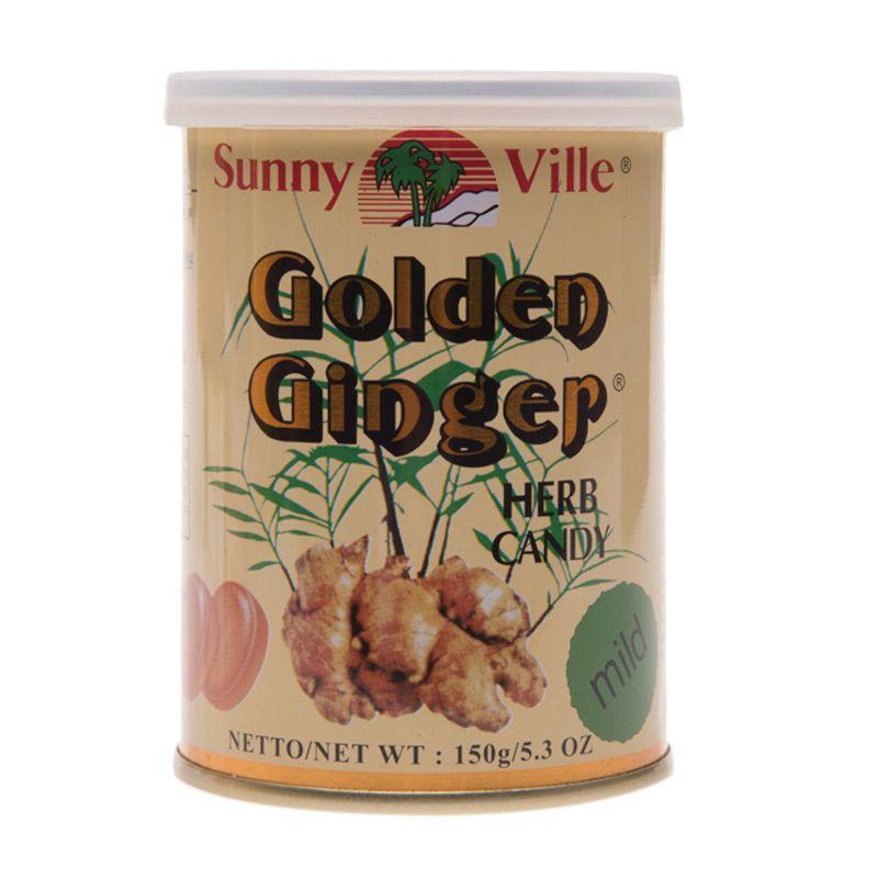 Golden Ginger Can Herb Drops Mild Permen [150 gr]