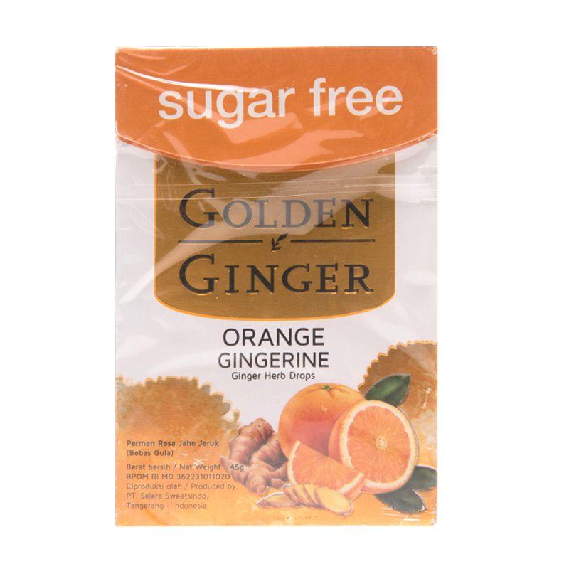 Golden Ginger Sugar Free Orange Gingerini Permen [45 gr]