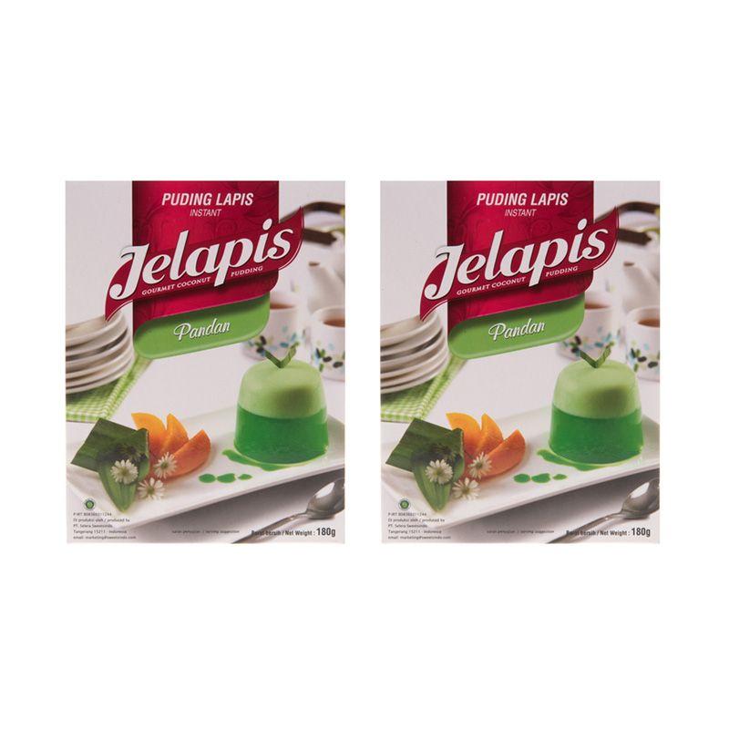 Jelapis Pandan Tepung Instant [180 gr/2 Packs]
