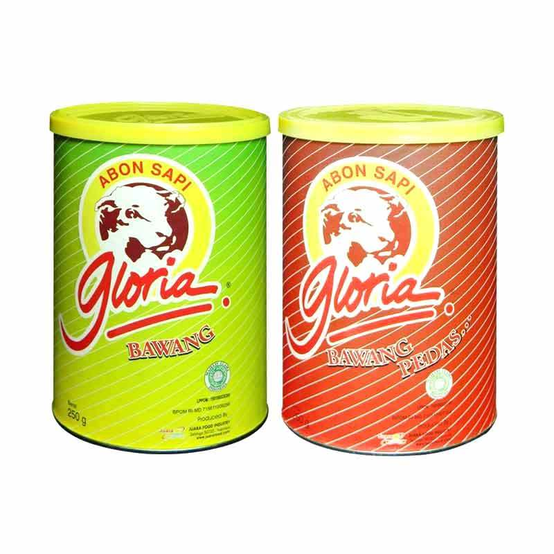 Gloria Abon Sapi Bawang & Gloria Abon Sapi Bawang Pedas 250 gr